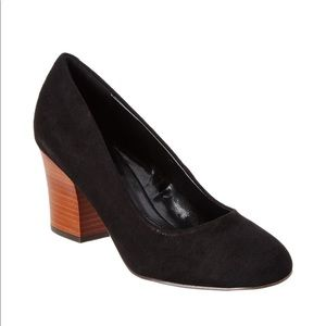 23e4b49b5daa Isola Shoes - Isola Emmalee Suede Black Pump with Brown Heel